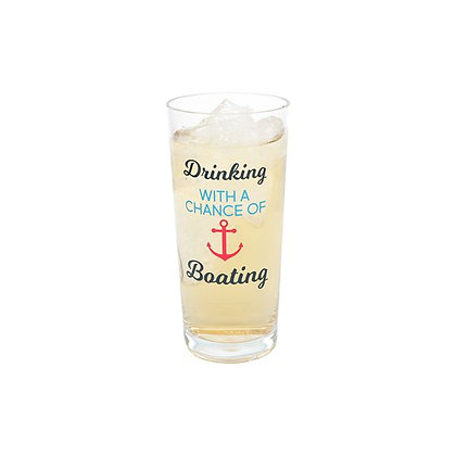 Drinking with a Chance of Boating Glass