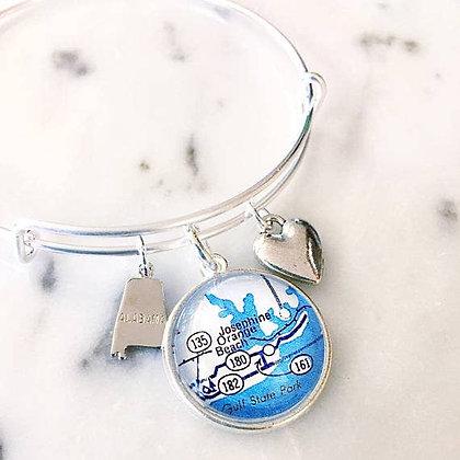 Orange Beach Alabama Charm Bracelet