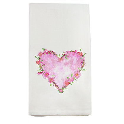 Floral Heart Kitchen Towel