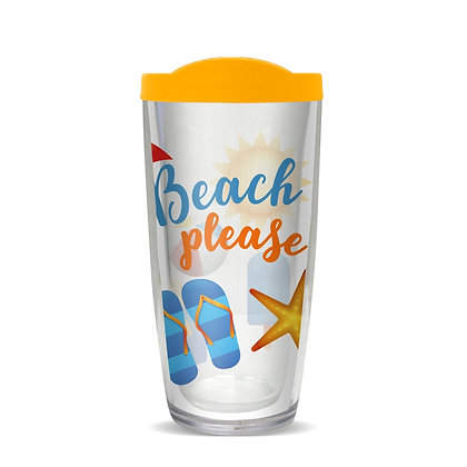Beach Please 16 oz Tumbler