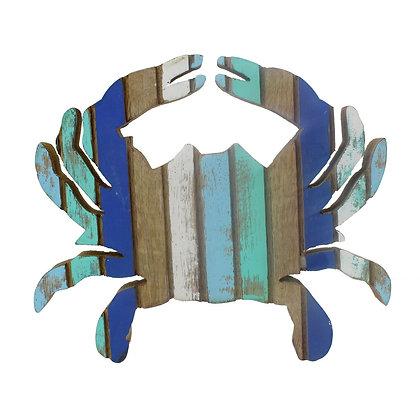 "Wood Crab Blue Stripe Figure 7"""