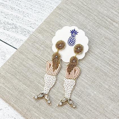 Mermaid Beaded Earrings