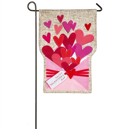 Envelope of Wishes Linen Garden Flag