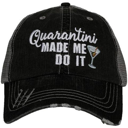 Quarantini Made Me Do It Baseball Adjustable Cap