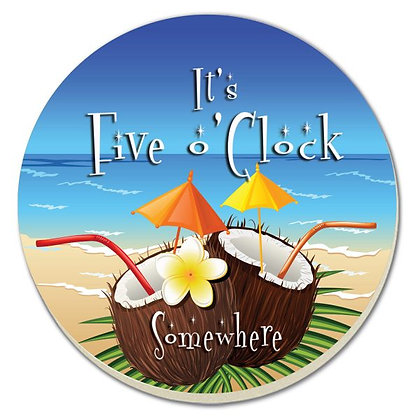 It's Five O'Clock Somewhere Coaster - 4 pack