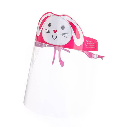 Kids Rabbit Face Shield Pink