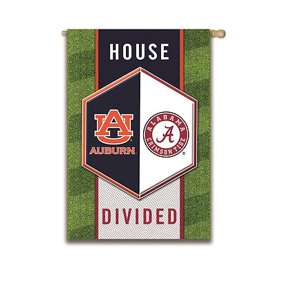 Auburn/Alabama University House Divided Flag 29x43