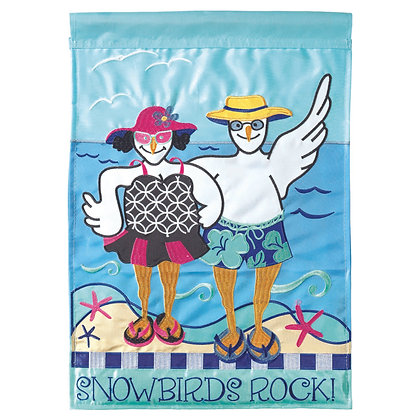 Snowbirds Rock Garden Flag