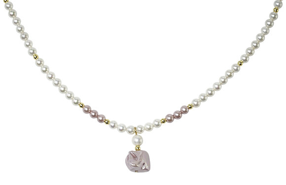 Annaleece By Devries Cheval Necklace Pink