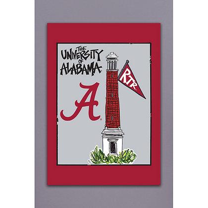 University of Alabama Tower House Flag 28 x 40