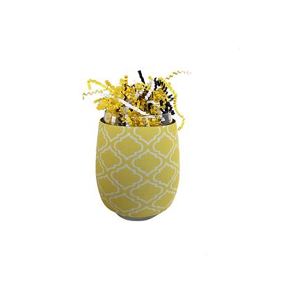 Yellow Moroccan Wine Huggie Stemless