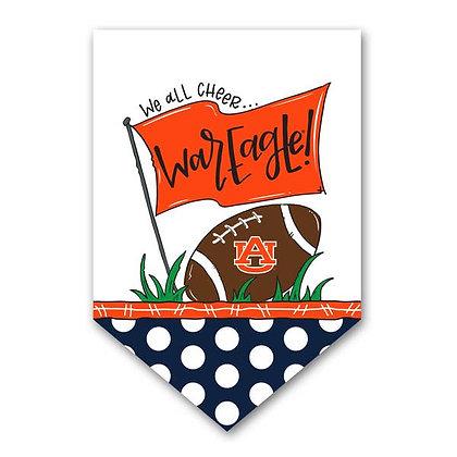 Auburn We All Cheer Garden Flag