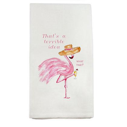 Terrible Idea Flamingo Kitchen Towel