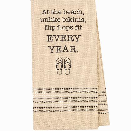 Bikini & Flip Flops Waffle - Weave Towel