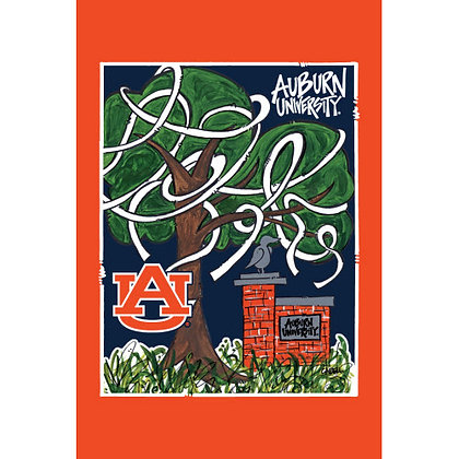 Auburn University with Paper Garden Flag
