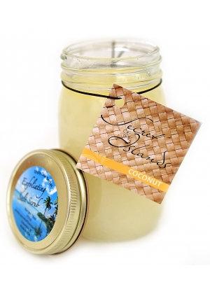 Coconut Sea Salt Scrub 16 oz