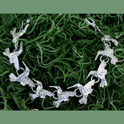 "Hummingbird Link Bracelet 7"" copyright by Maurice Milleur"