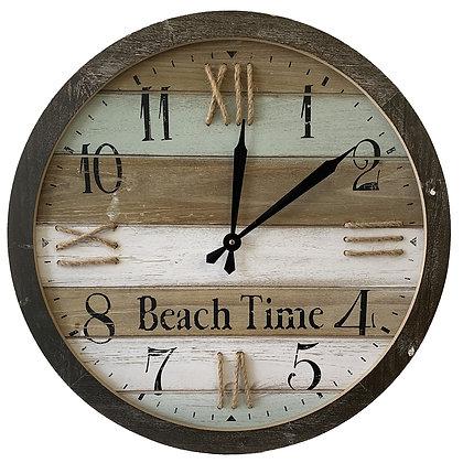"Iron Wall Clock ""Beach Time"""