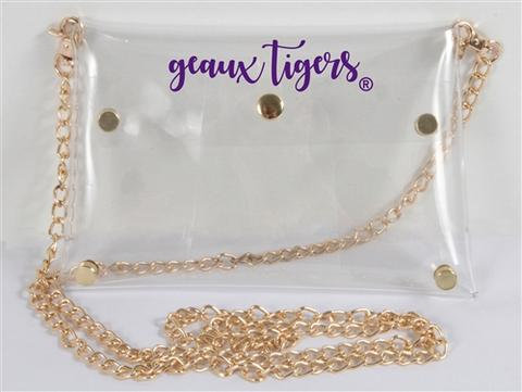 Louisiana State University Geaux Tigers Clear Clutch/Chain