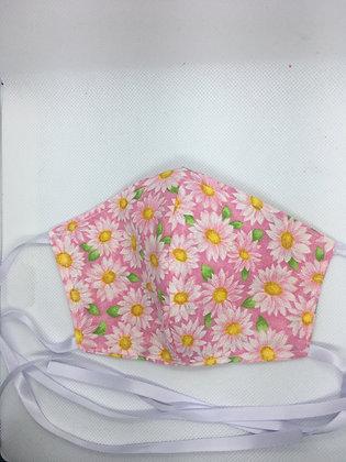Pink Daisy Face Mask - Child