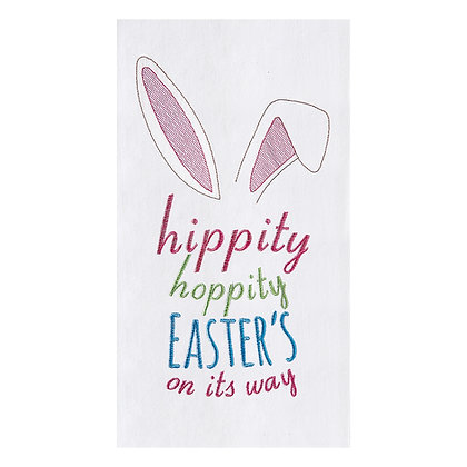 Easter's On It's Way Embroidered Towel