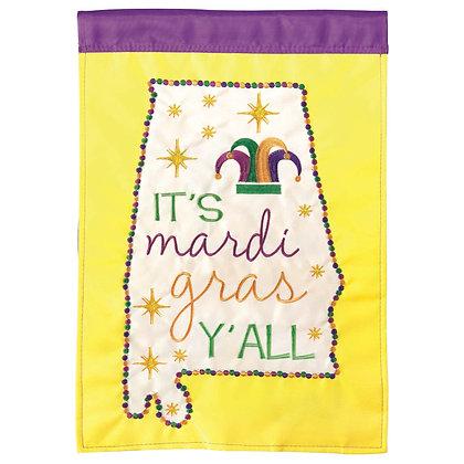 Alabama Mardi Gras Garden Flag