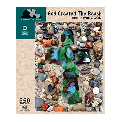 God Created the Beach Puzzle 550 Pieces