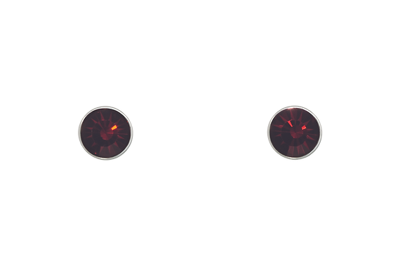 Annaleece By Devries Garnet Essentials Earrings