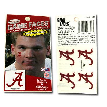 University of Alabama Waterless 4 Pack Tattoos