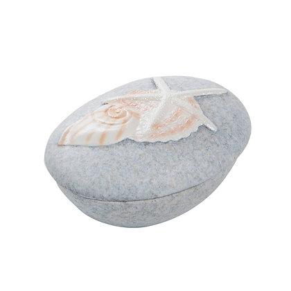 Resin Pebble Box with Shells