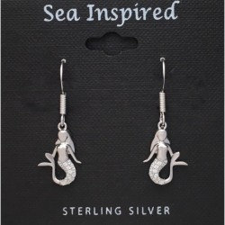 CZ Mermaid Small Dangle Earrings