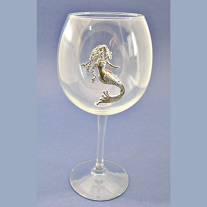 Mermaid Red Wine Goblet copyright by Maurice Milleur