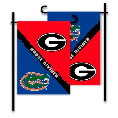 Georgia - Florida House Divided 2-Sided Garden Flag
