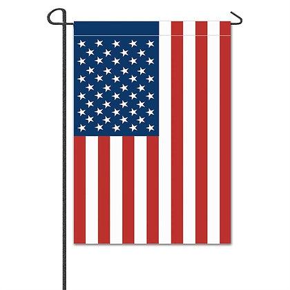 American Single Applique Garden Flag