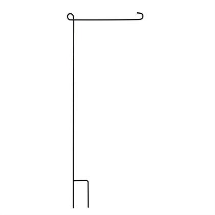 Garden Size Flag Stand - Black