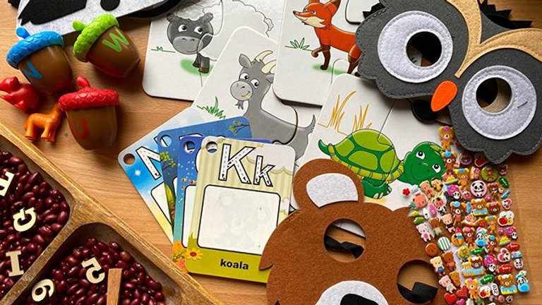 Woodland Animals and Forest Box