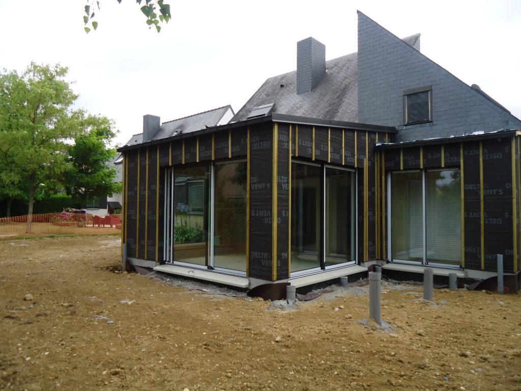 Extension d'une maison en ossature bois - Angers
