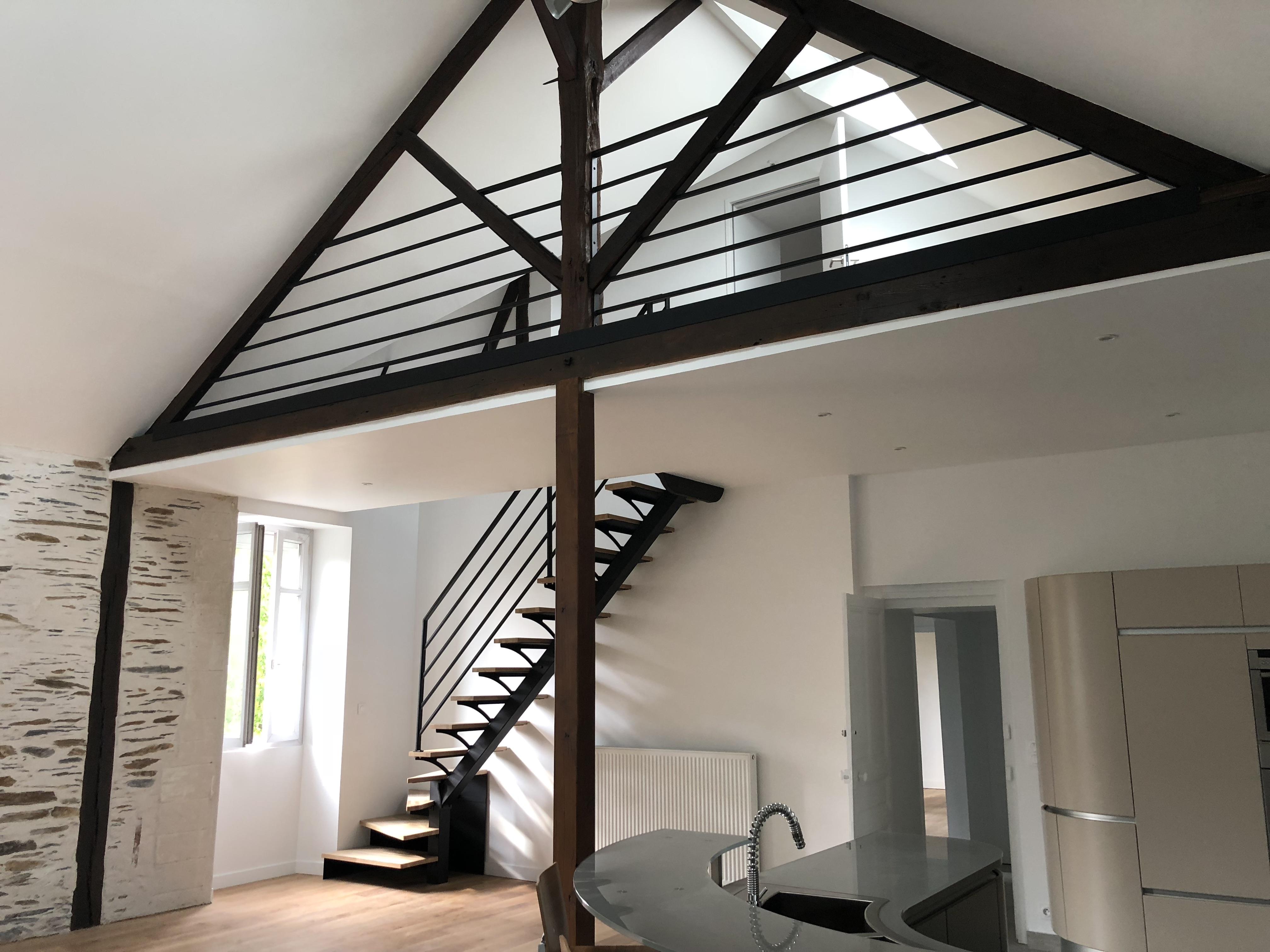Aménagement Mezzanine et escalier