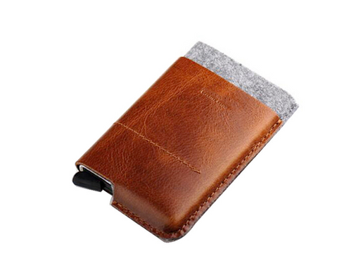 Leather Automatic cardholder