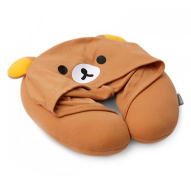 Neck pillow with hat cover