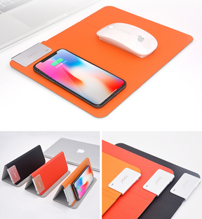 Wireless charger + Foldable Mobile Stand Mousepad