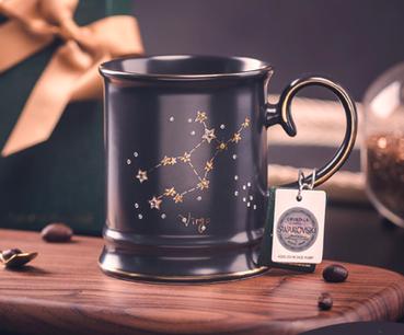 Swarovski crystal new bone ceramic cup