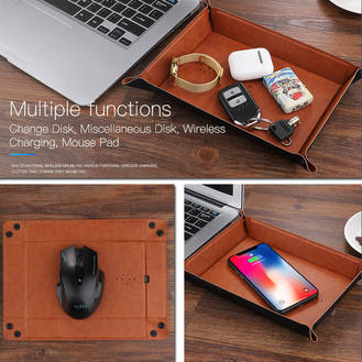 Wireless charging mousepad + desk tray