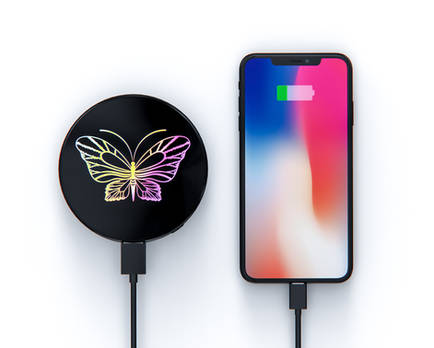 LED color print wireless powerbank