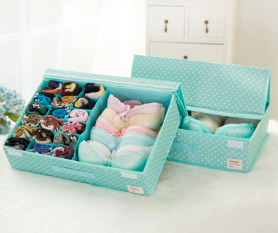 Foldable underwear storage box