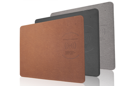 leather Wireless charging Mousepad