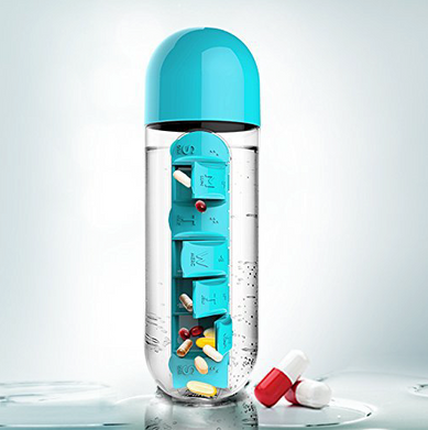 Bottle with 7days pill box