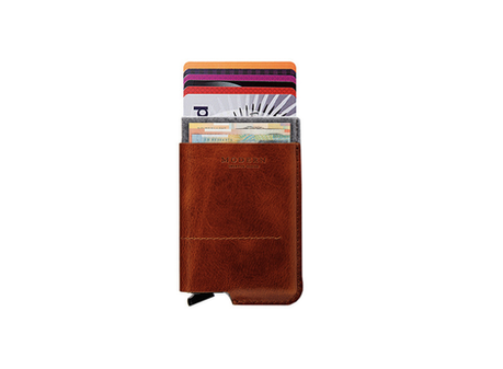 leather automatic card holder