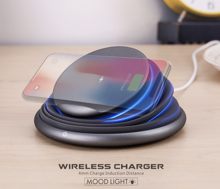 Foldable LED light wireless charger stand