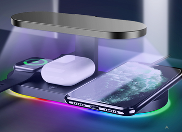 Fast charge 3in1 wireless charger + UV sterlizier